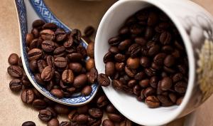 Espressobohnen Makro Ansicht