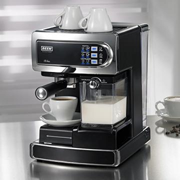 Beem i-Joy 15 bar Espressomaschine Tassenwärmer und Milch aufschäumen