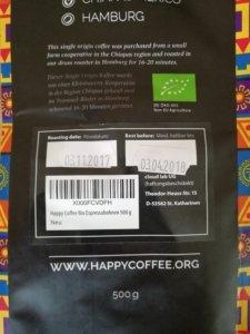 Röstdatum Happy Coffee Espressobohnen