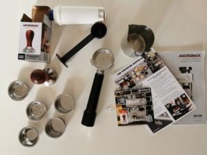 Umfangreiches Zubehör der Design Espresso Advanced Barista